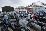 Skidoos<br /> Longyearbyen<br /> Svalbard<br /> Norway<br /> Arctic Ocean