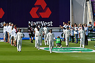 The India player take to the field during the first day of the 4th SpecSavers International Test Match 2018 match between England and India at the Ageas Bowl, Southampton, United Kingdom on 30 August 2018.