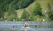 Lucerne, SWITZERLAND, Friday , 27/05/2016 , 2016 FISA WCII,  Lake Rottsee,  Men's single Scull, heat, USA1 Kenneth Jurkowski,[Mandatory Credit; Peter SPURRIER/Intersport-images]