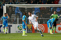 FOOTBALL - FRENCH LEAGUE CUP 2011/2012 - 1/8 FINAL - OLYMPIQUE MARSEILLE v RC LENS - 25/10/2011 - PHOTO PHILIPPE LAURENSON / DPPI -  JOY ANDRE-PIERRE GIGNAC (OM) AFTER HIS GOAL