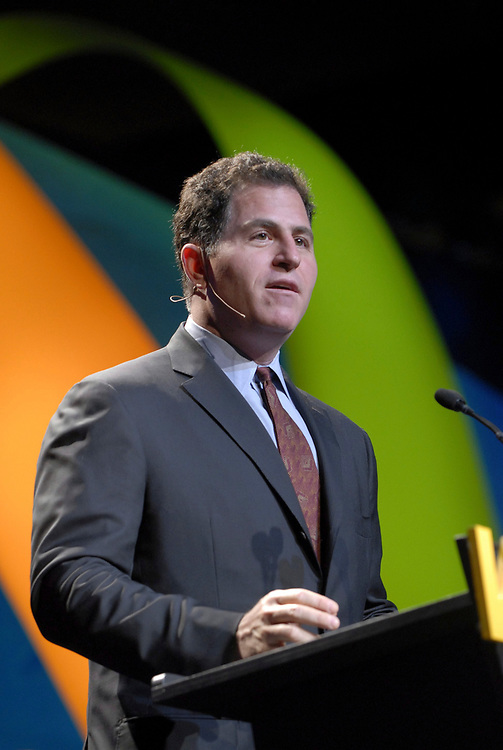 Austin, Texas May 4, 2006:  Michael Dell, founder of Dell Computer of Round Rock, TX details his company's strategy in global information technology at the bi-annual World Congress of Information Technology, a gathering of 2,100 high tech professionals worldwide that ends Friday. <br /> ©Bob Daemmrich