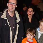 Russisch Kerstcircus 2003, Bart Chabot, vrouw Jolanda van den Burg, kinderen Sebastiaan, Splinter, Maurits en Storm