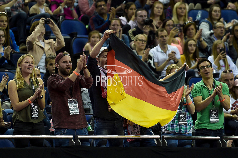 Fans of Tabea Alt of Germany (GER) during the iPro Sport World Cup of Gymnastics 2017 at the O2 Arena, London, United Kingdom on 8 April 2017. Photo by Martin Cole.