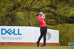 March 23, 2018 - Austin, TX, U.S. - AUSTIN, TX - MARCH 23: Rory McIlroy watches his tee shot during the third round of the WGC-Dell Technologies Match Play on March 23, 2018 at Austin Country Club in Austin, TX. (Photo by Daniel Dunn/Icon Sportswire) (Credit Image: © Daniel Dunn/Icon SMI via ZUMA Press)