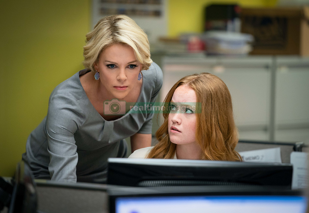 RELEASE DATE: December 20, 2019 TITLE: Bombshell STUDIO: Lionsgate DIRECTOR: Jay Roach PLOT: A group of women decide to take on Fox News head Roger Ailes and the toxic atmosphere he presided over the network. STARRING: CHARLIZE THERON as Megyn Kelly, LIV HEWSON as Lily Balin. (Credit Image: © Lionsgate/Entertainment Pictures/ZUMAPRESS.com)