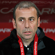 Istanbul BBS's coach Abdullah AVCI during their Turkey Cup semi final soccer firsth match Istanbul BBS between Genclerbirligi at the Ataturk Olympic stadium in Istanbul Turkey on Thursday 07 April 2011. Photo by TURKPIX