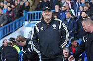 Cardiff City first team manager, Russell Slade during the Sky Bet Championship match between Sheffield Wednesday and Cardiff City at Hillsborough, Sheffield, England on 30 April 2016. Photo by Phil Duncan.