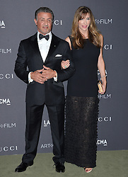 Sylvester Stallone and Jennifer Flavin attend the 2016 LACMA Art + Film Gala honoring Robert Irwin and Kathryn Bigelow presented by Gucci at LACMA on October 29, 2016 in Los Angeles, California. Photo by Lionel Hahn/AbacaUsa.com