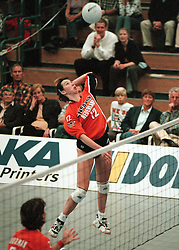 19-06-1998 VOLLEYBAL: NEDERLAND - CHINA: AMSTERDAM<br /> Elles Leferink<br /> ©1998-WWW.FOTOHOOGENDOORN.NL