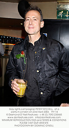 Gay rights campaigner PETER TATCHELL,  at a party in London on 23rd April 2003.PIY 14