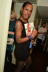 Singer SONIQUE at a party to celebrate the publication of The Stylist by Rosie Nixon held at Soho House, London on 10th February 2016.