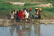 Children by an African River - Nigeria