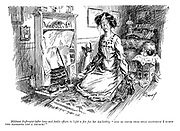 """Militant suffragist (after long and futile efforts to light a fire for her tea-kettle). """"And to think that only yesterday I burnt two pavilions and a church!"""""""
