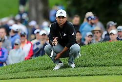 September 8, 2018 - Newtown Square, Pennsylvania, United States - Xander Schauffele lines up a putt on the 10th green during the third round of the 2018 BMW Championship. (Credit Image: © Debby Wong/ZUMA Wire)