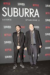 Andrea Molaioli e Pietro Messina at the Red Carpet of the series Suburra 2 at Circolo Degli Illuminati in Rome, Italy, 20 February 2019  (Credit Image: © Lucia Casone/Soevermedia via ZUMA Press)