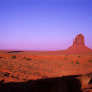 Mittens and Merrick Butte in Monument Valley Tribal Park on the Navajo Reservation, AZ.