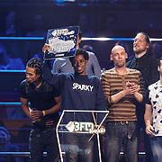 NLD/Utrecht/20150409 - Uitreiking 3FM Awards 2015, Typhoon wint een award