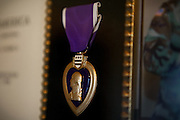 The Purple Heart belonging to John Daniel Shannon, 48, a former US Army Senior Sniper, is hanging on a wall of his home in Westcliffe, CO, USA, where he retired with his family after a serious brain injury inflicted by an insurgent sniper in Ramadi, Al Anbar Province, Iraq, on November 13th 2004. Daniel fought during the Second Battle of Fallujah and was then moved to nearby Ramadi. Daniel lost his left eye and has multiple health issues because of his injury: memory problems, balance problems, he can't smell and taste well anymore, he suffers from PTSD, has  troubles with large crowds and city surroundings. This is the reason why he and his family moved to a quiet location on the Rocky Mountains. In 2007 Dan helped the Washington Post to uncover patients' neglect at the Walter Reed Army Medical Center; he also testified before Congress. Torrey, 42, his wife, is a freelance writer and a contributor for the Huffington Post; she's also campaigning to improve the situation of veterans' families.