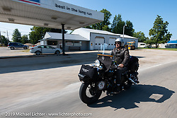 Jeff Milburn riding his Class II 1937 Harley-Davidson WL 750cc Flathead in the Cross Country Chase motorcycle endurance run from Sault Sainte Marie, MI to Key West, FL (for vintage bikes from 1930-1948). Stage 4 saw a 315 mile ride from Urbana, IL to Bowling Green, KY USA. Monday, September 9, 2019. Photography ©2019 Michael Lichter.