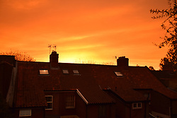 Storm Ophelia turns the sky red over England - here Norwich late afternoon October 2017