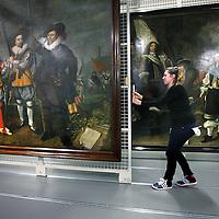 Nederland, Amsterdam , 12 februari 2014.<br /> Gallery of the Golden Age.<br /> De zg Schuttersstukken opgeslagen in het depot van Amsterdam Museum, die tentoon gespreid zullen worden in de Hermitage<br /> Foto:Jean-Pierre Jans