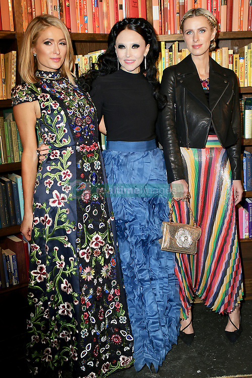 February 13, 2018 - New York, NY, United States - February 13, 2018 New York City....Paris Hilton, designer Stacey Bendet, and Nicky Hilton Rothschild attends the Alice and Olivia By Stacey Bendet Presentation during 2018 New York Fashion Week on February 13, 2018 in New York City  (Credit Image: © Nancy Rivera/Ace Pictures via ZUMA Press)
