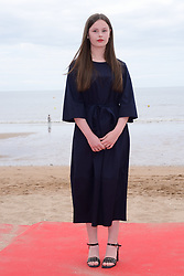 Louise Labeque attending a photocall as part of the 32nd Cabourg Film Festival in Cabourg, France on June 16, 2018. Photo by Aurore Marechal/ABACAPRESS.COM