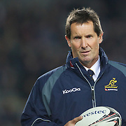 Wallabies coach Robbie Deans during the New Zealand V Australia Tri-Nations, Bledisloe Cup match at Eden Park, Auckland. New Zealand. 6th August 2011. Photo Tim Clayton