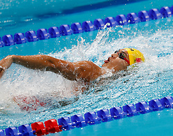 BUDAPEST, July 27, 2017  China's Xu Jiayu competes during the Mixed 4x100m Medley Relay event at the 17th FINA World Championships in Budapest, Hungary on July 26, 2017. Team China won the bronze medal with 3:41.25. (Credit Image: © Ding Xu/Xinhua via ZUMA Wire)