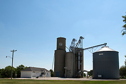 09 June 2012:   Farm Services (FS) Grain elevator, storage and processing plant in Shirley Illinois.