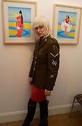 Pam Hogg, Digital age, Duggie Fields exhibition opening. A. 7 D. gallery, Chiltern St. London. 15 November 2004. ONE TIME USE ONLY - DO NOT ARCHIVE  © Copyright Photograph by Dafydd Jones 66 Stockwell Park Rd. London SW9 0DA Tel 020 7733 0108 www.dafjones.com
