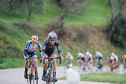 Elisa Longo Borghini in the thick of the action as the race enters it's final third - 2016 Strade Bianche - Elite Women, a 121km road race from Siena to Piazza del Campo on March 5, 2016 in Tuscany, Italy.