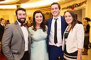 Ronan Grehan, Hollie Cullen, Darragh Lydon and Ronan Grehan and Alacoque Greaney from Oranmore at the Gorta Self Help Africa Annual Ball at the Galway Bay Hotel, Salthill Galway.<br /> Photo:Andrew Downes, xposure.