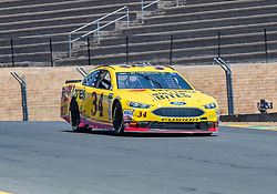 June 22, 2018 - Sonoma, CA, U.S. - SONOMA, CA - JUNE 22:  Michael McDowell, driving the #(34) Ford for Front Row Motorsports comes down turn 9 on Friday, June 22, 2018 at the Toyota/Save Mart 350 Practice day at Sonoma Raceway, Sonoma, CA (Photo by Douglas Stringer/Icon Sportswire) (Credit Image: © Douglas Stringer/Icon SMI via ZUMA Press)