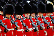 Soldiers parade during Trooping the Colour, London, England, United Kingdom