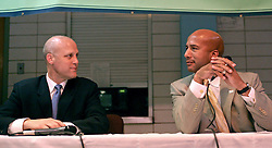 May 10th, 2006. New Orleans, Louisiana. New Orleans Mayor Ray C Nagin debates his challenger, Louisiana lieutenant governor Mitch Landrieu at the Audubon Institute Riverside association at the Sabis Academy Charter school in Uptown New Orleans.<br /> Photo; Charlie Varley/varleypix.com