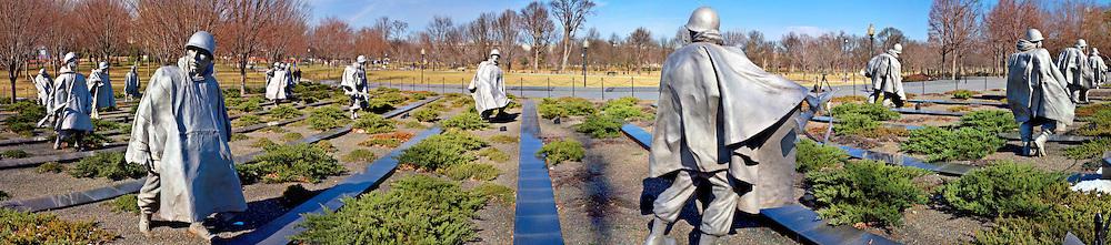 Panorama of Korean War Memorial, Washington DC
