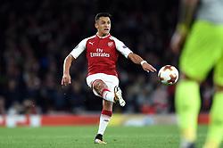 Alexis Sanchez of Arsenal kicks - Mandatory by-line: Patrick Khachfe/JMP - 14/09/2017 - FOOTBALL - Emirates Stadium - London, England - Arsenal v Cologne - UEFA Europa League Group stage