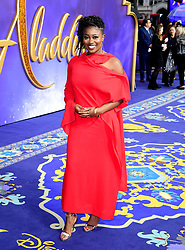 Clara Amfo attending the Aladdin European Premiere held at the Odeon Luxe Leicester Square, London.