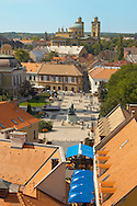 Dobo square from Eger Castle - Hungary .<br /> <br /> Visit our HUNGARY HISTORIC PLACES PHOTO COLLECTIONS for more photos to download or buy as wall art prints https://funkystock.photoshelter.com/gallery-collection/Pictures-Images-of-Hungary-Photos-of-Hungarian-Historic-Landmark-Sites/C0000Te8AnPgxjRg