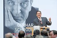 """26 OCT 2006, BERLIN/GERMANY:<br /> Gerhard Schroeder, SPD, Bundeskanzler a.D., waehrend einer Pressekonferenz zur Vorstellung seines Buches """"Entscheidungen. Mein Leben in der Politik"""", Willy-Brandt-Haus<br /> IMAGE: 20061026-01-032<br /> KEYWORDS: Gerhard Schröder, Autobiografie, Biografie, Buch"""