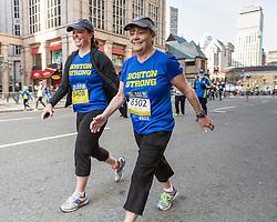 BAA 5K, participants on Boylston Street