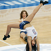 Efes Pilsen's show girls during their Turkish Basketball league match Efes Pilsen between Olin Edirne at the Sinan Erdem Arena in Istanbul Turkey on Friday 06 May 2011. Photo by TURKPIX