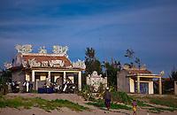 Local temple on China Beach near Hoi An, Vietnam.