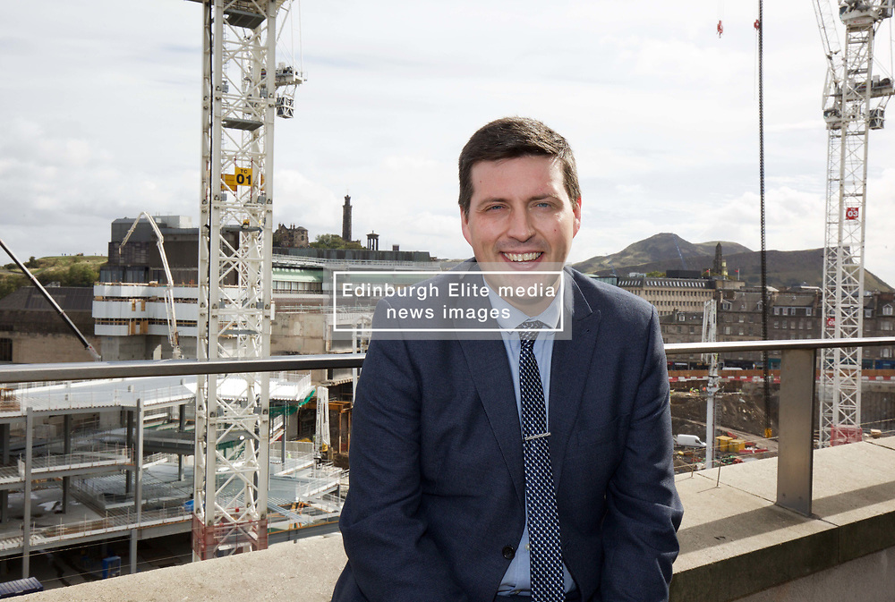 Employment minister Jamie Hepburn visited the new £1 billion Edinburgh St James shopping centre, the biggest building project in Britain, which is half-way to its completion in 2020. Pic copyright Terry Murden @edinburghelitemedia