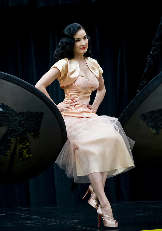 """London Sep 23 - Dita Von Teese launches """"Wonderbra by Dita Von Teese"""" at the Covent Garden Piazza, Covent Garden in London, on September 23rd..Please telephone : +44 (0)845 0506211 for usage fees .***Licence Fee's Apply To All Image Use***.IMMEDIATE CONFIRMATION OF USAGE REQUIRED.*Unbylined uses will incur an additional discretionary fee!*.XianPix Pictures  Agency  tel +44 (0) 845 050 6211 e-mail sales@xianpix.com www.xianpix.com"""