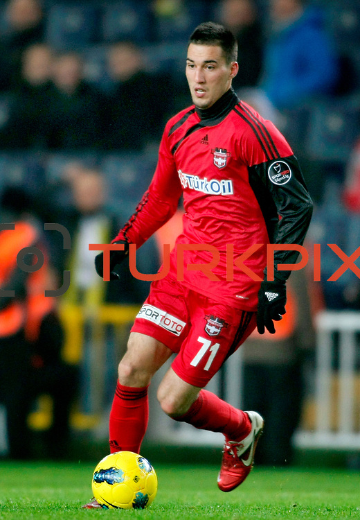 Gaziantepspor's Ivelin Popov during their Turkish superleague soccer match Fenerbahce between Gaziantepspor at the Sukru Saracaoglu stadium in Istanbul Turkey on Monday09 January 2011. Photo by TURKPIX
