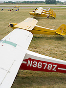 PIper J-3 Cubs on display at the EAA Airventure airshow, Oshkosh, Wisconsin.