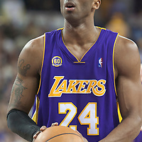 SACRAMENTO, CA - APRIL 06: Kobe Bryant #24 of the Los Angeles Lakers prepares to shoot a free throw during a game at the Arco Arena on April 4, 2008 in Sacramento, CA. NOTE TO USER: User expressly acknowledges and agrees that, by downloading and or using this photograph, User is consenting to the terms and conditions of the Getty Images License Agreement. Mandatory Credit: 2008 NBAE (Photo by Chris Elise/NBAE via Getty Images)