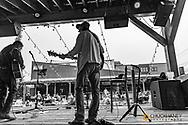 David Walburn and Michael Atherton perform at The Gunsight Bar in downtown Columbia Falls, Montana, USA